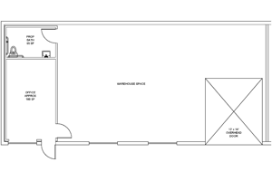 Example: Warehouse, Office & Restroom Floorplan