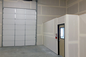 Restroom & Office Unit, Front Interior View
