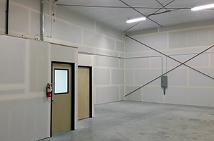 Restroom & Office Unit, Rear Interior View